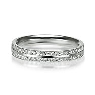 Double Pavé Band Wedding/Eternity Ring